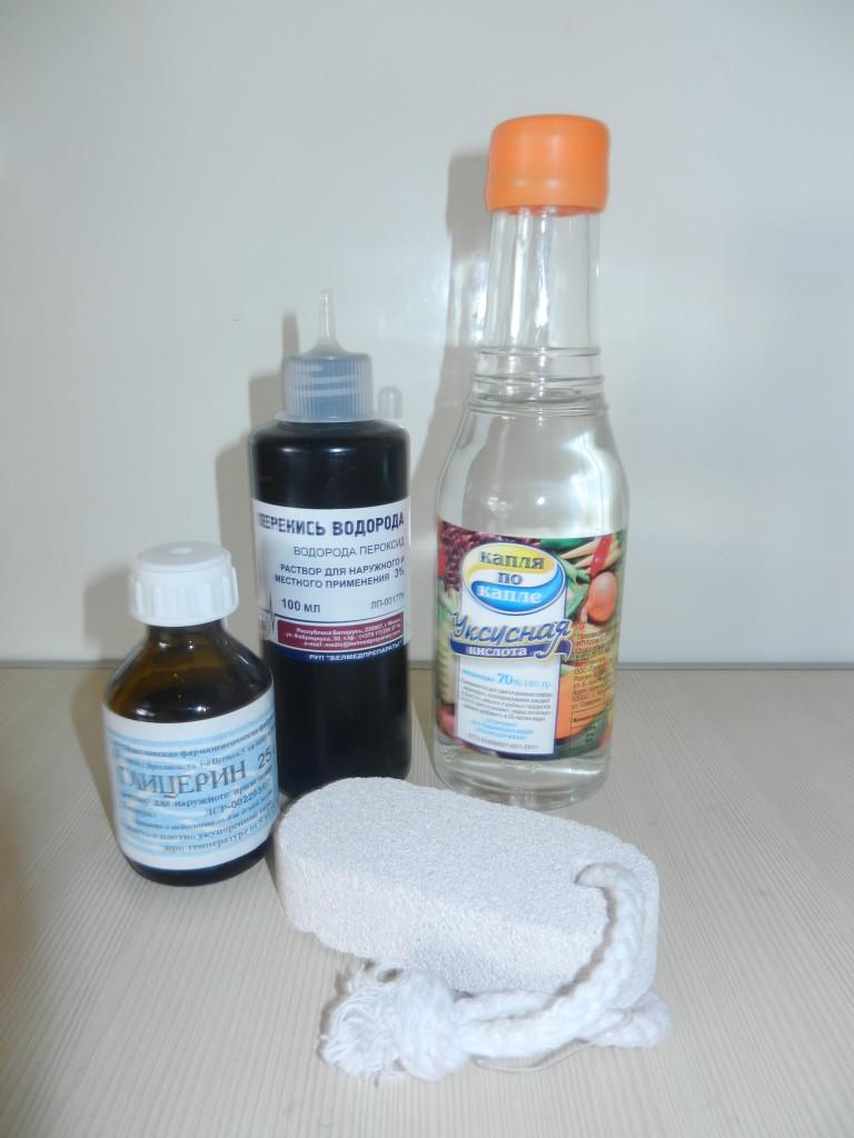 Как сделать мягкие пятки глицерином