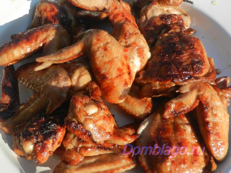 Куриные бедрышки или куриные крылышки гриль, супер-просто, очень вкусно. Рецепт с фото.