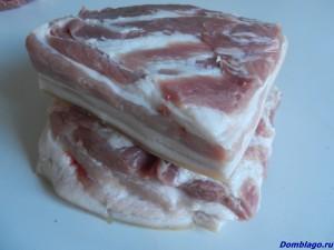 Грудинка свиная соленая