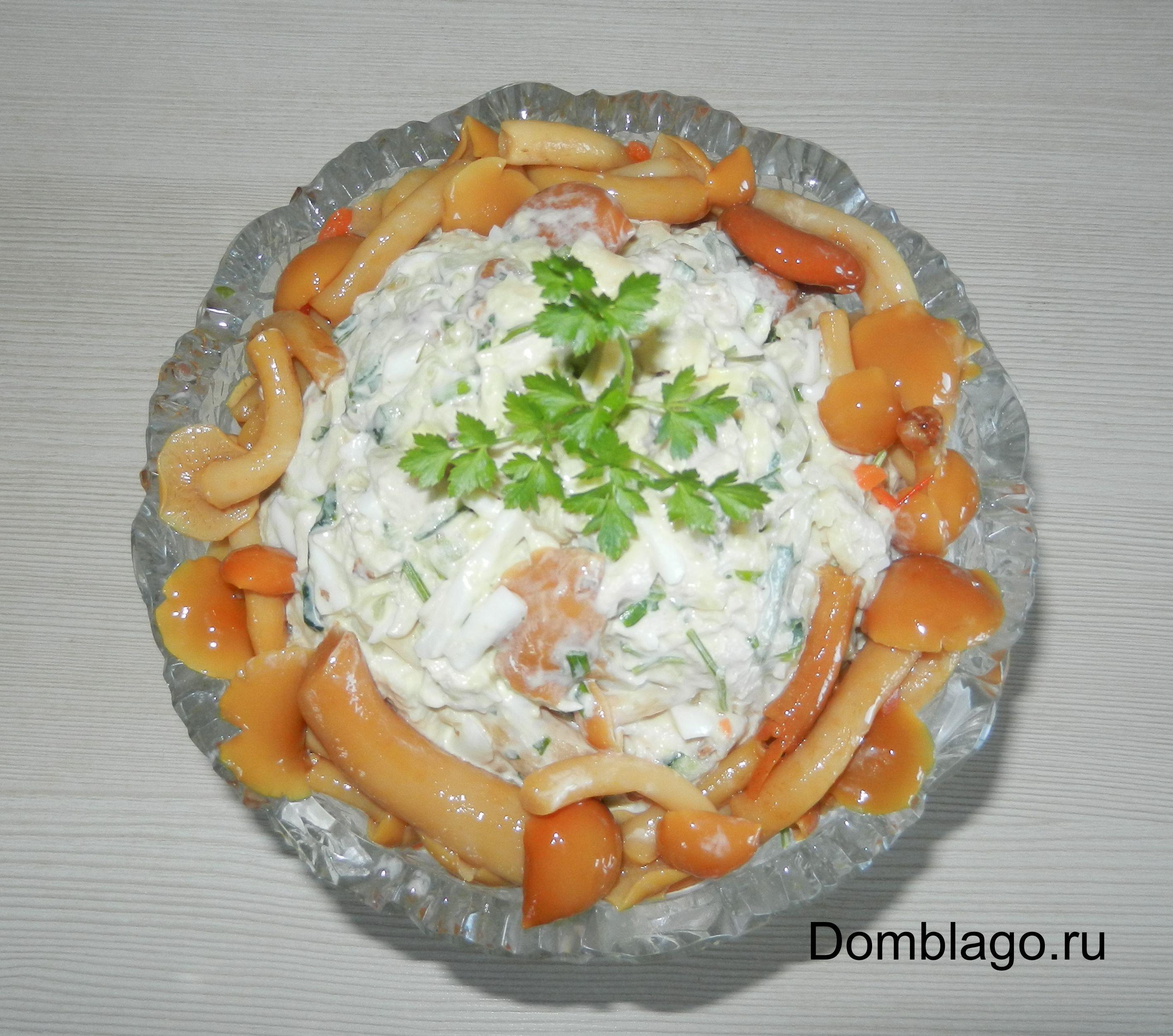 Салат праздничный с курицей рецепт с фото пошагово
