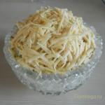 Праздничный салат с курицей, грибами и корнишонами. Рецепт с фото.