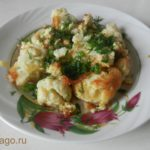 Самое простое и быстрое блюдо из цветной капусты. Рецепт с фото.