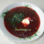Суп свекольник. Рецепт с фото.