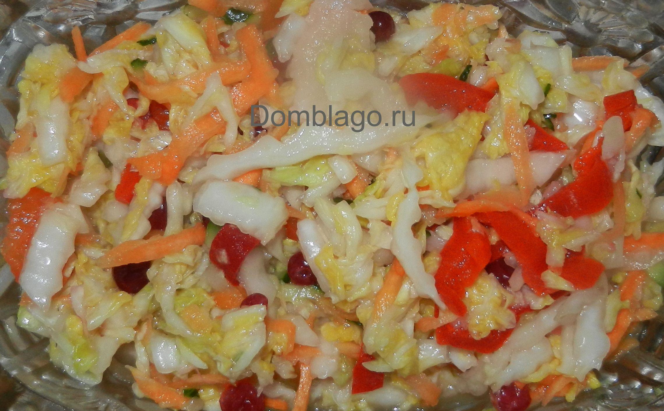 Салаты с капустой рецепты с на зиму 156