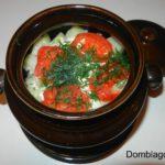 Новогоднее жаркое в горшочках со свининой и картошкой. Рецепт с фото.